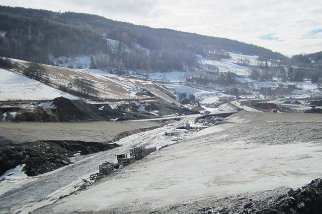Anleggsarbeid ved E6 Øyer-Tretten